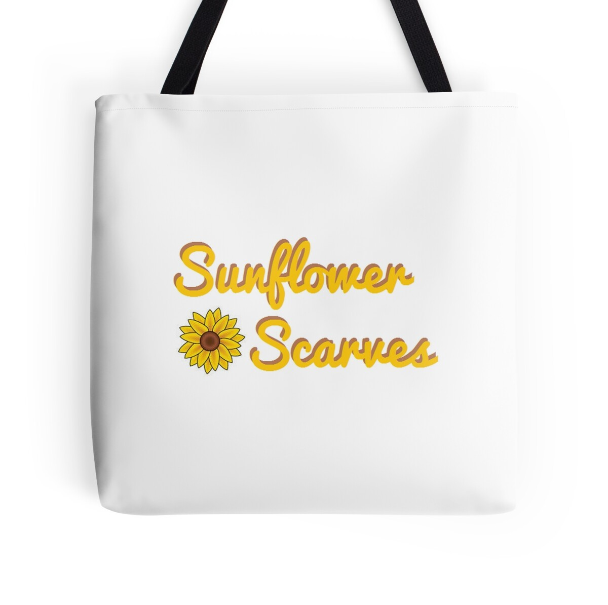 Scarves With Company Logo Quotsunflower Scarves Company Logo Quot Tote Bags By