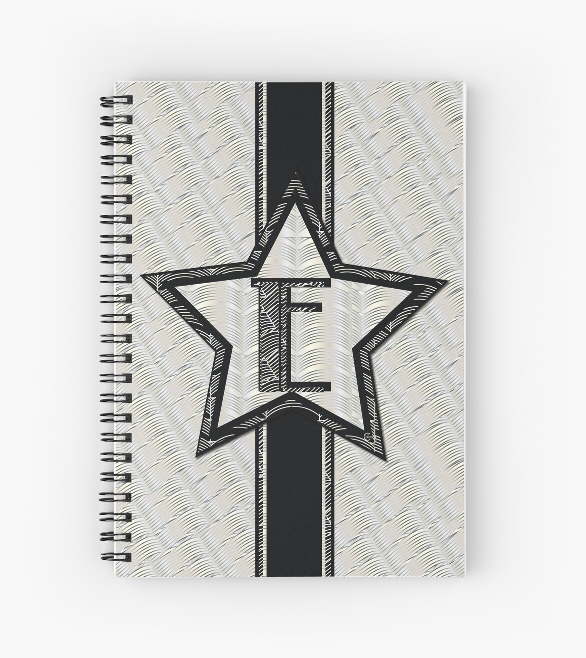 Art Deco Style Notebook Star Of The Show Art Deco Style Letter E Spiral Notebook By Cecelybloom