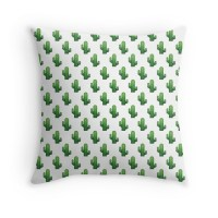 """Cactus emoji land"" Throw Pillows by gnarlynicole 