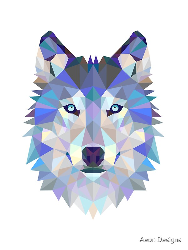 Animal Removable Wallpaper Quot Geometric Wolf Quot Stickers By Aeon Designs Redbubble