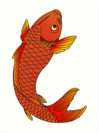 """Japanese Koi Fish"" Art Prints by jaegerosullivan 
