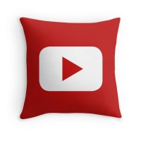 """Youtube"" Throw Pillows by CGiliberti 