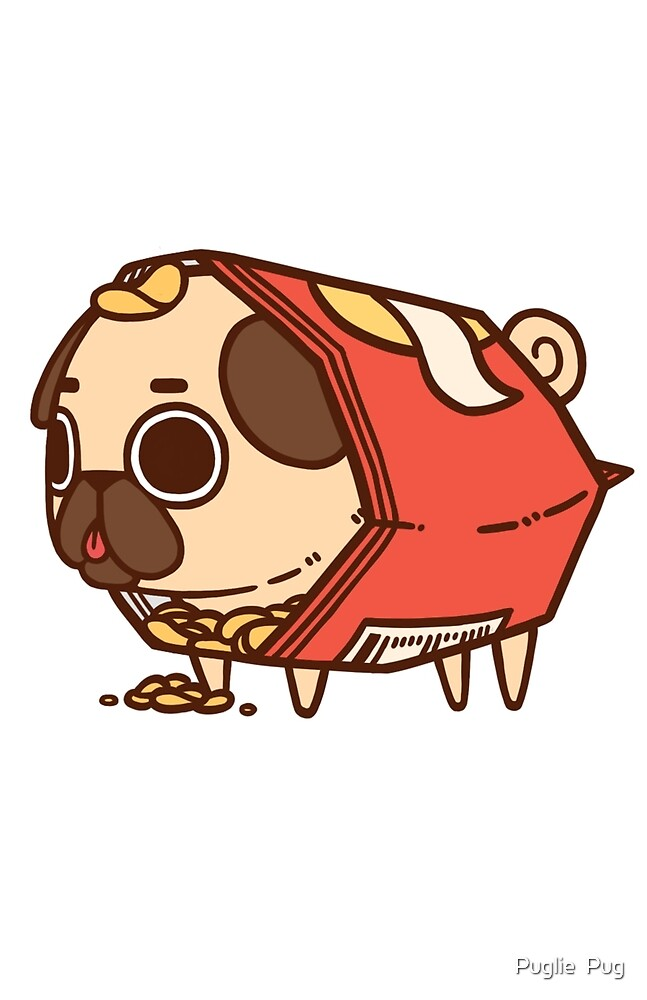 Cute Puppy Wallpapers For Iphone Quot Puglie Chips Quot By Puglie Pug Redbubble
