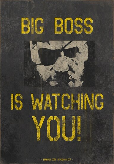 Metal Gear Solid Iphone Wallpaper Quot Big Boss Is Watching You Quot Posters By Wearz Redbubble