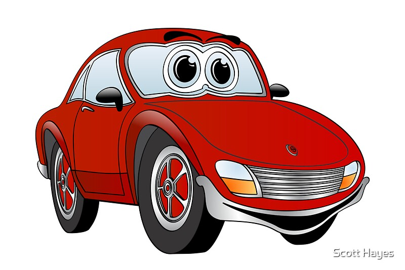 Classic Car Wallpaper For Bedrooms Quot Red Sports Car Cartoon Quot Posters By Graphxpro Redbubble