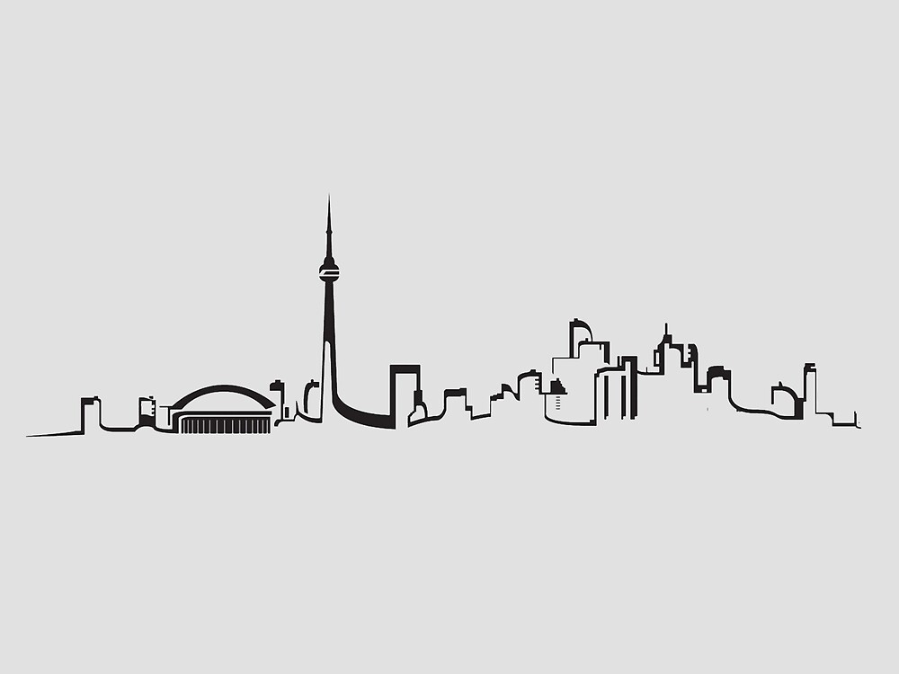 Lifeline Quotes Wallpaper Quot Toronto Skyline Outline Quot By Yourstrulyali Redbubble