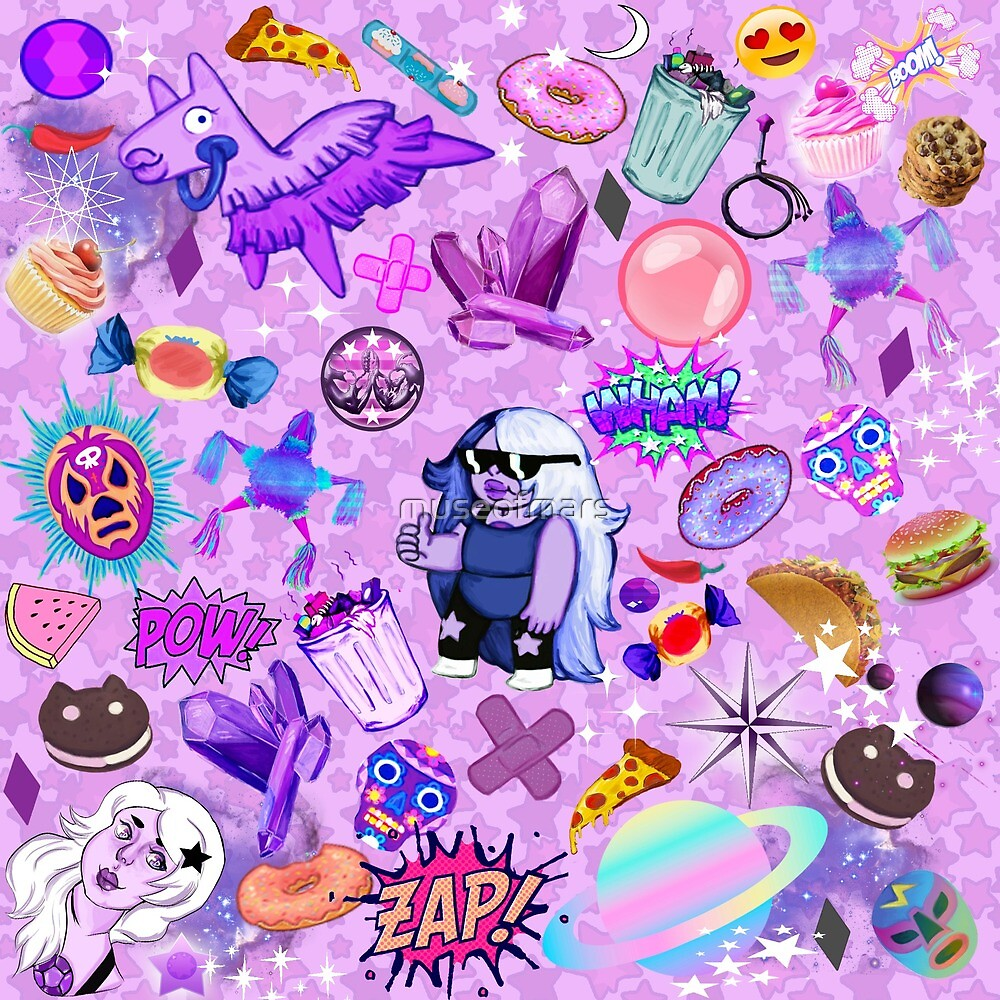 3d Pc Wallpaper 3d Graphic Wallpaper Quot Amethyst Aesthetic Wallpaper Quot By Museofmars Redbubble