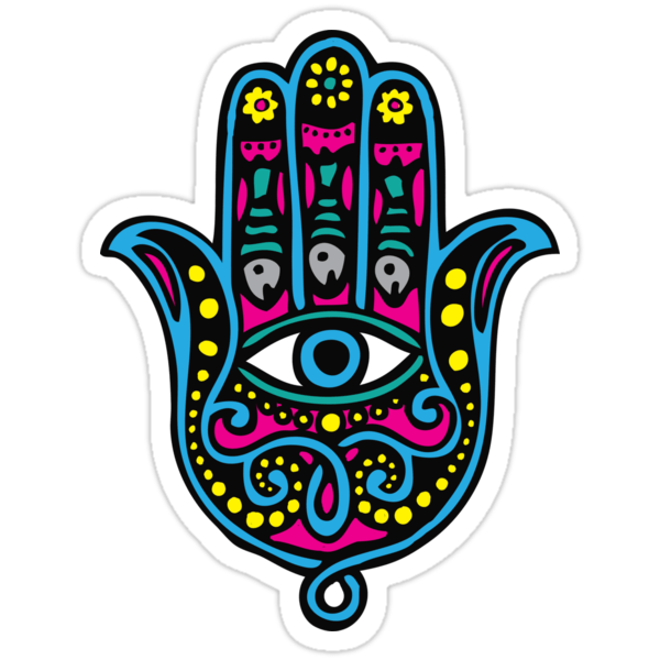 Hamsa Iphone Wallpaper Quot Hand Of Fatima Quot Stickers By Dukepope Redbubble