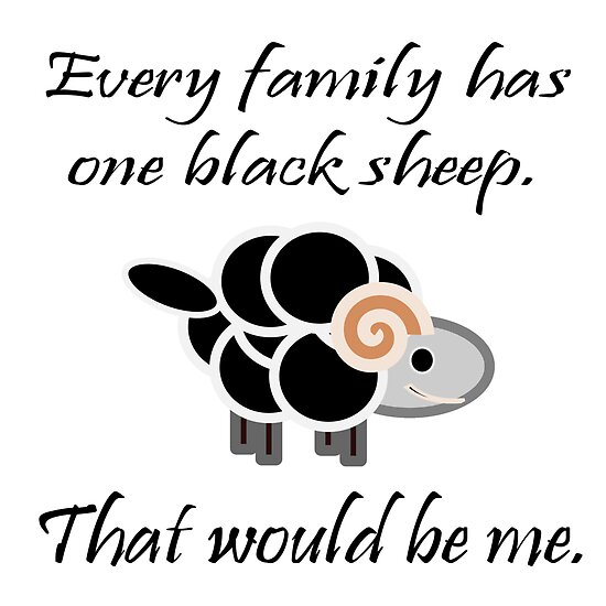 Im the black sheep of the family Quotes Pinterest Black - print divorce papers