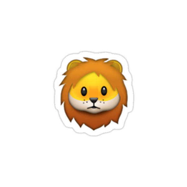 African Animal Wallpaper Border Quot Lion Emoji Quot Stickers By Brogy2323 Redbubble