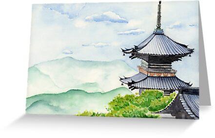 Japanese Wall Calendars 2018 Asian Art Calendar Calendars Calendarscom Quot;japanese Temple Kyoto Kiyomizudera Art Watercolor