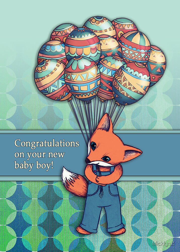 Congratulations on your new baby boy!\