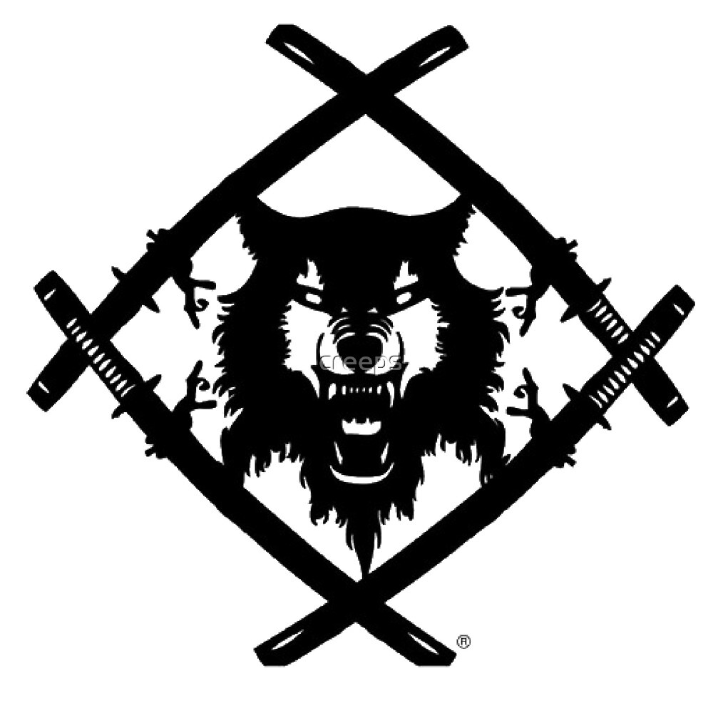 Black And White And Red Wallpaper Quot Hollow Squad Wulf Logo Quot By Creeps Redbubble