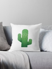 """Cactus Emoji"" Throw Pillows by elliegillard"