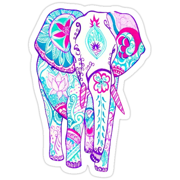 Iphone 5 Wallpaper Gossip Girl Quot Elephant Tumblr Quot Stickers By Charlo19 Redbubble