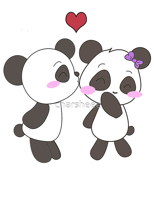Cute Small Girl Wallpapers For Facebook Quot Panda Love Apparel Quot Stickers By Charsheee Redbubble