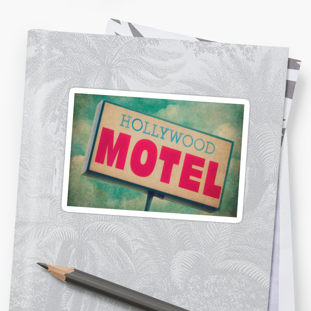 Hollywood Motel Hollywood Motel Sign Sticker By Honey Malek