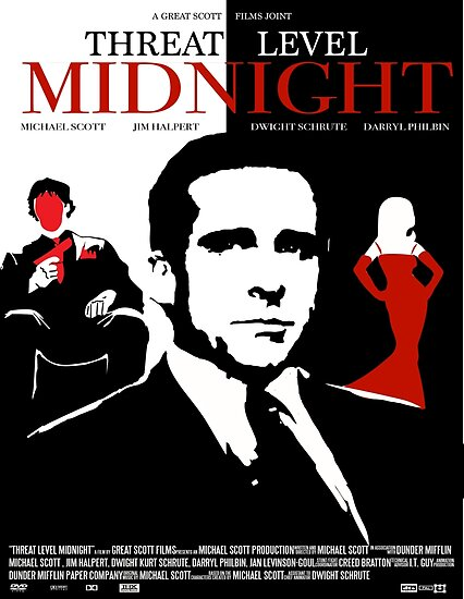 The Office Threat Level Midnight Movie Poster\