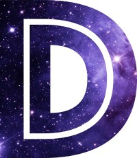 """""""The Letter D - Space"""" Stickers by Mike Gallard   Redbubble"""
