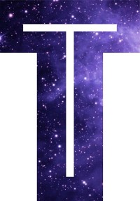 """The Letter T - Space"" Stickers by Mike Gallard 