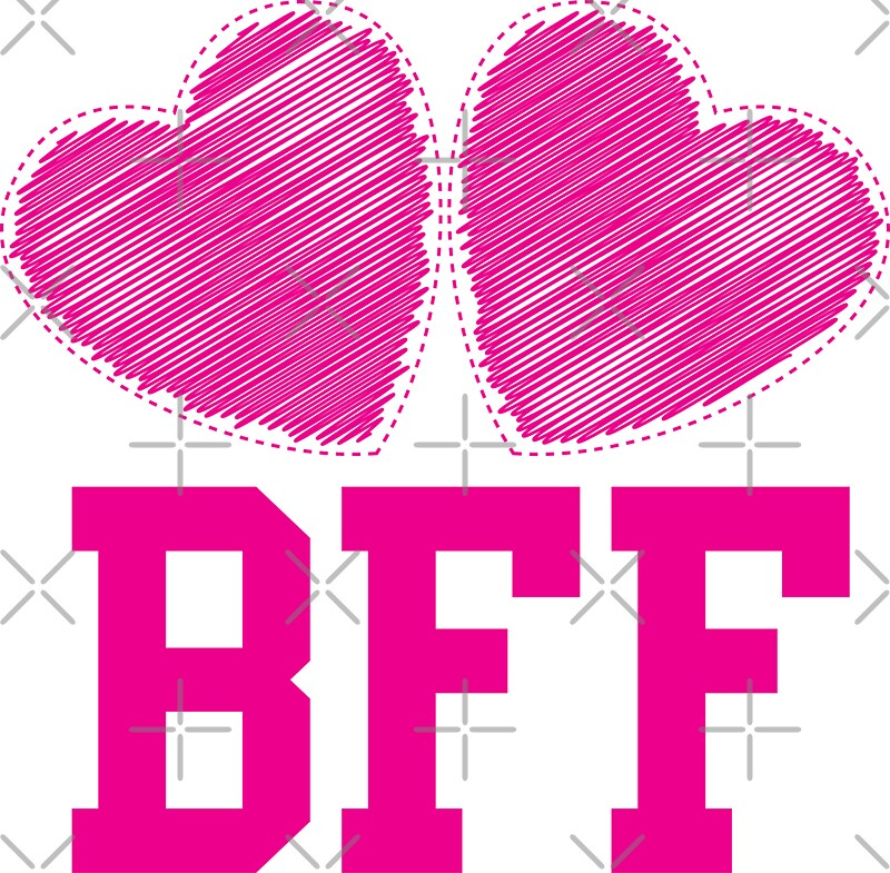Cute Wallpapers For Bff For 5 Quot Bff With Cute Pink Hearts Best Friends Forever Quot Stickers
