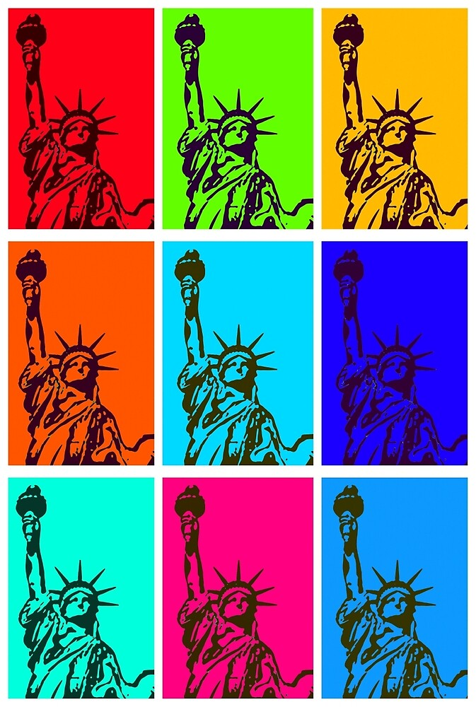 "Ipad Mini Case ""statue Of Liberty Pop Art"" By Daniel-hagerman 
