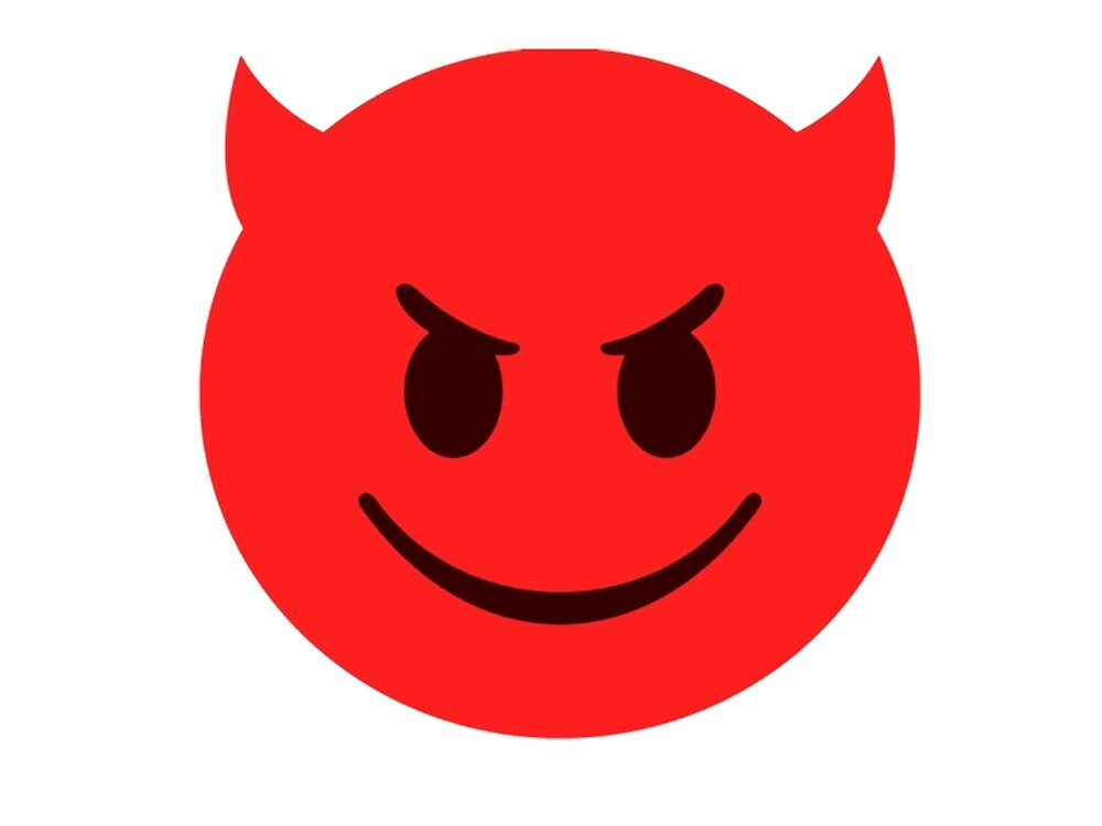 Smiley Face Iphone Wallpaper Quot Little Devil Emoji Quot By Akimbovii Redbubble