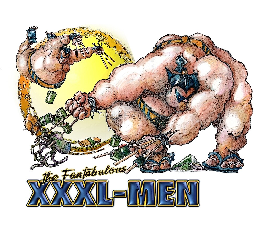 Xxxl Poster The Fantabulous Xxxl Men Sumo Rine
