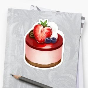 Stylized Strawberry Mousse Cake By Eviktedrei Strawberry Mousse Stickers By Eviktedrei Redbubble Strawberry Mousse Cake Recipe Uk Strawberry Mousse Cake Without Gelatin