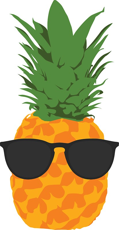 Iphone Product Red Wallpaper Quot Cool Pineapple With Sunglasses Quot Stickers By Simplecomplex
