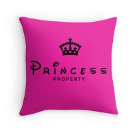 """Princess Property Throw Pillows"" Throw Pillows by ..."