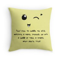 """""""Cuddle Pillow"""" Throw Pillows by Ziiteara 