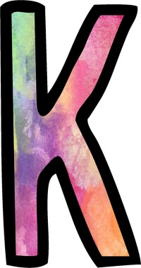 """Letter K"" Stickers by ldeitch"