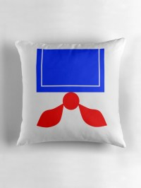"""Stay Puft Marshmallow Man Pillow & Tote"" Throw Pillows by ..."