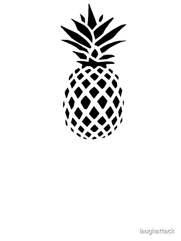 Black Removable Wallpaper Quot Pineapple Silhouette Quot Stickers By Laughattack Redbubble