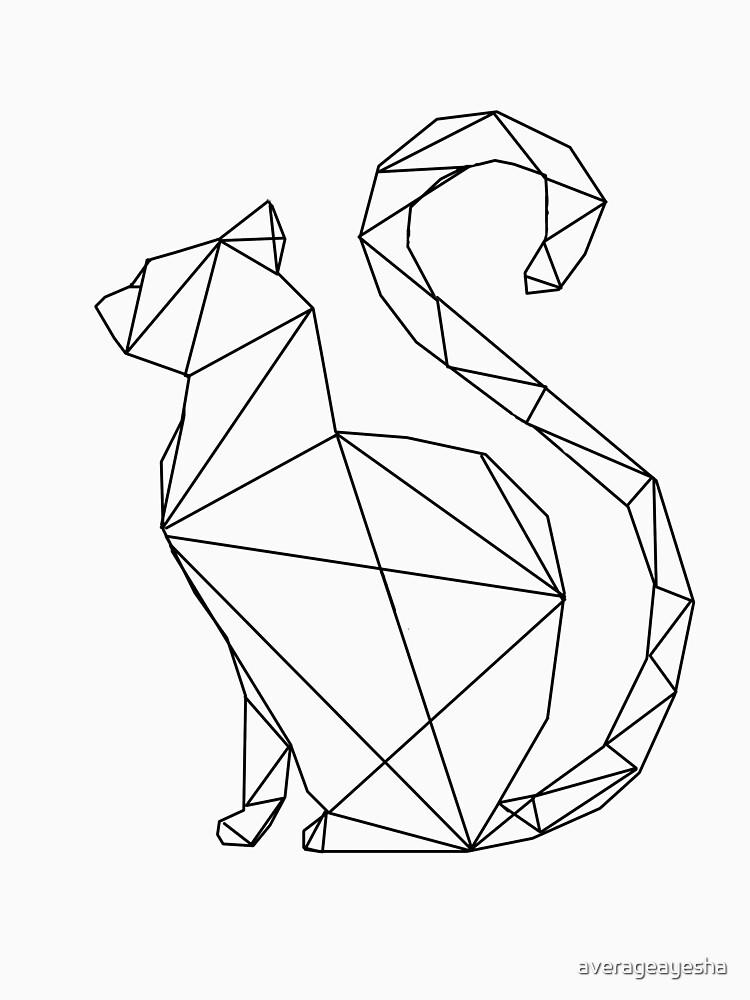 Cat Stroke, Line Art, Geometric Animal, Cat, Meow Notecard, Message