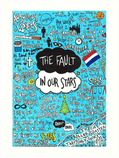 Tfios Wallpaper Quotes Quot The Fault In Our Stars Collage Quot Art Prints By Jacob