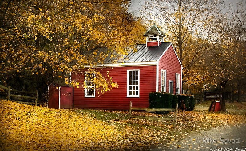 Kids Fall Wallpaper Quot The Old School House Quot By Michael Savad Redbubble