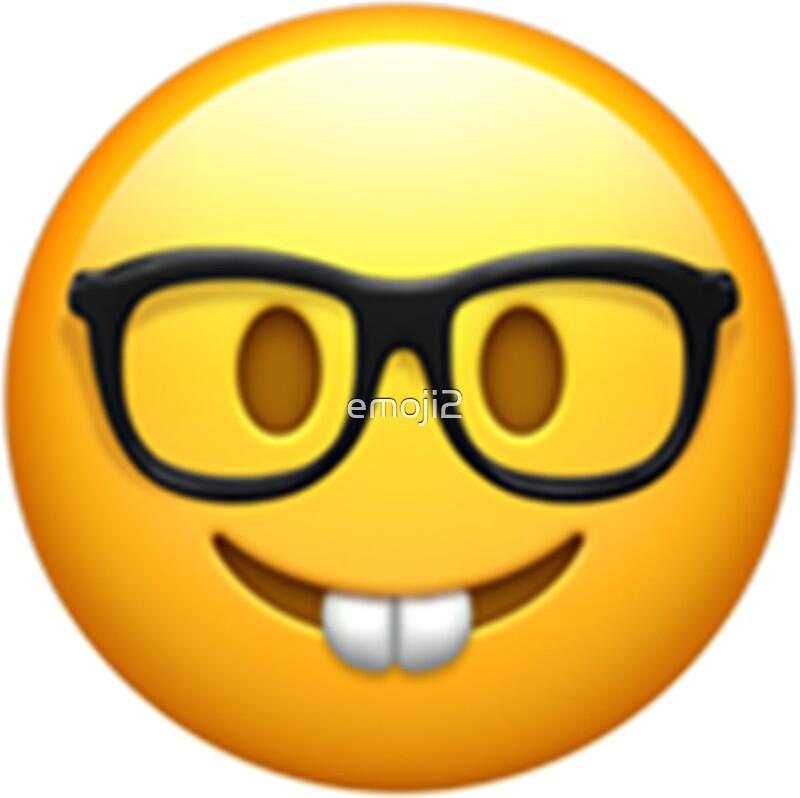 Emoticons Cute Wallpaper Quot Emoji Nerd Quot Stickers By Emoji2 Redbubble