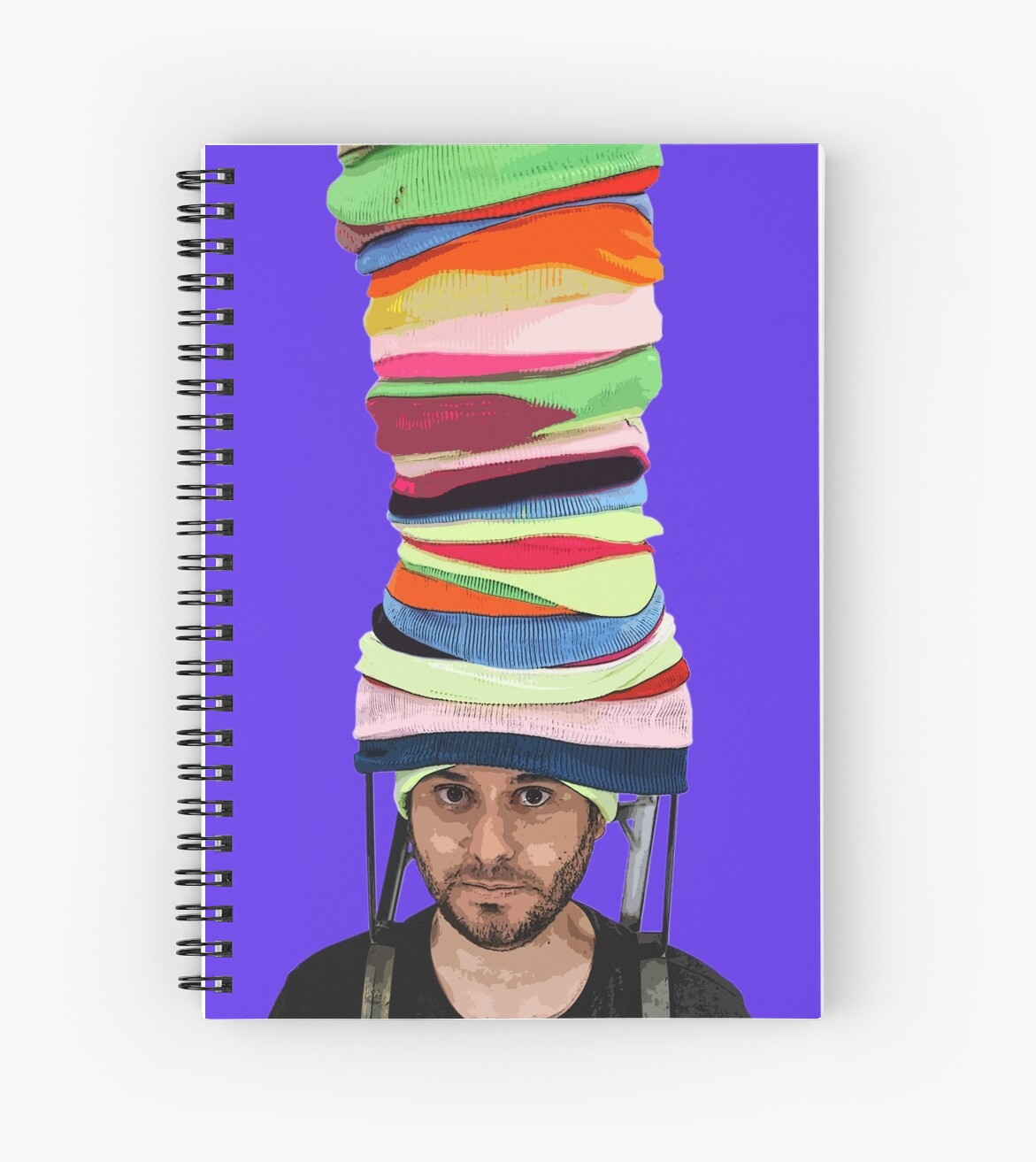 Notebook Klein Ethan Klein The Beanie King V2 Filtered H3h3 Spiral Notebook By Muwumbe