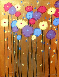"""""""Flower painting floral impressionist wall art acrylic ..."""