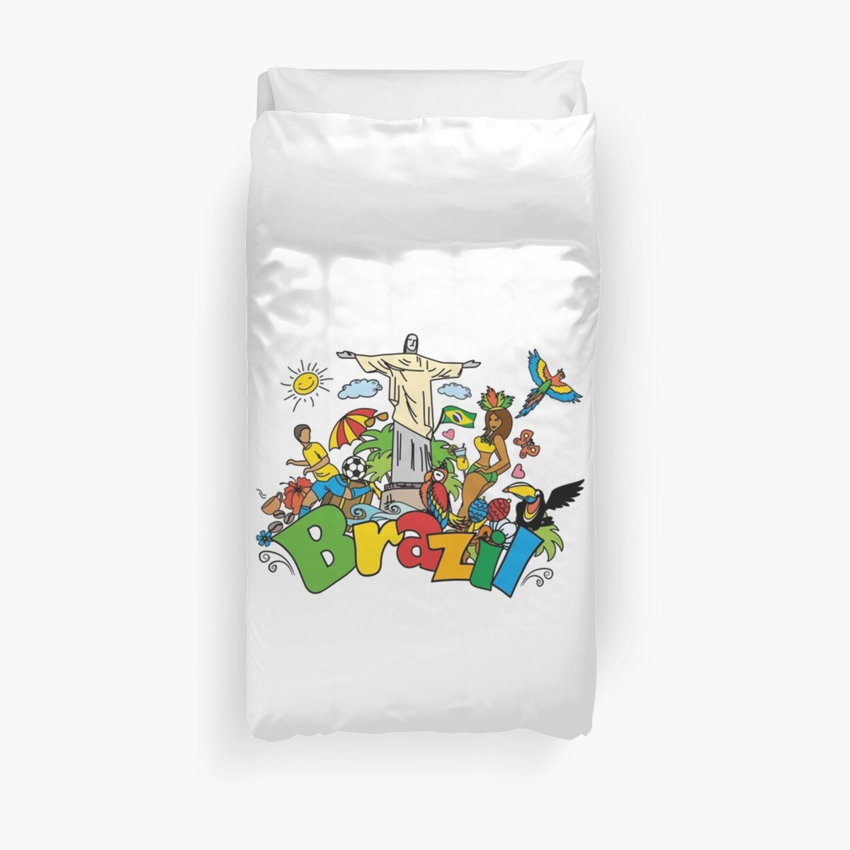 Funny Duvet Covers Funny Cartoon Brazil Picture Duvet Cover By Naum100