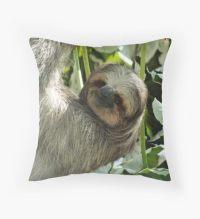 Sloth Animal: Throw Pillows | Redbubble