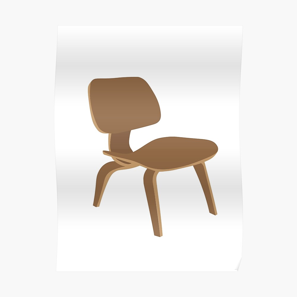 Eames Plywood Chair Eames Molded Plywood Chair Poster