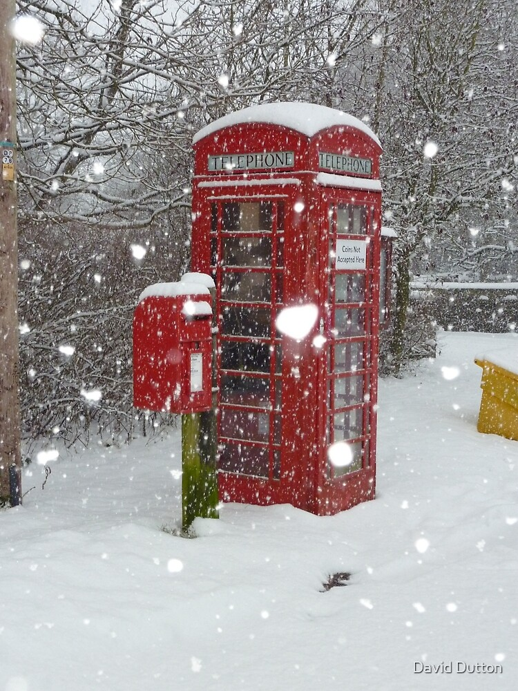 Red Makeup Box Red Telephone Box Winter England By David Dutton
