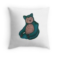 Snorlax: Throw Pillows | Redbubble