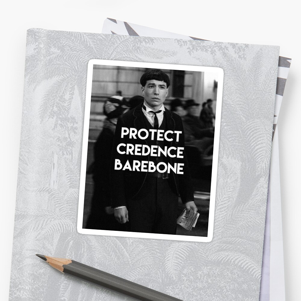 Stickers Credence Protect Credence Barebone Sticker By Charlotte Poe