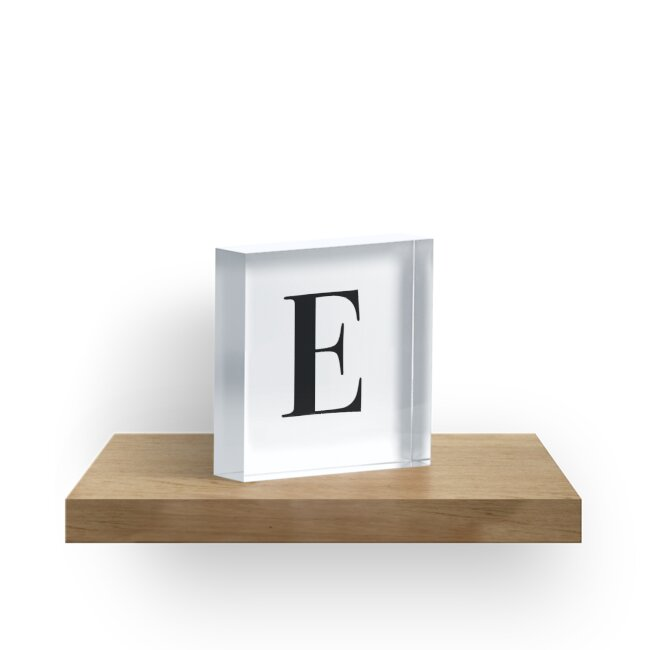 Letter E name initial\