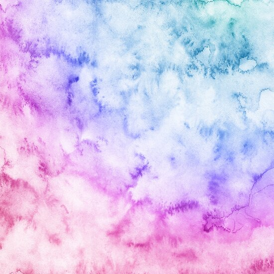 Watercolor background Soft Blue, pink, purple\