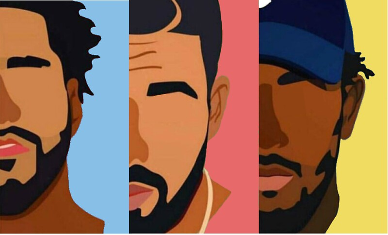 Chance The Rapper Iphone Wallpaper Quot Drake J Cole Kendrick Lamar Quot Stickers By Sam Gendelman